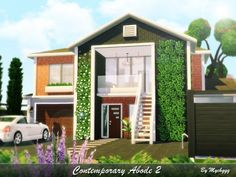 building a house Contemporary Abode 2 House by MychQQQ for The Sims 4 Sims 4 Modern House, Sims 2 House, Sims 4 House Plans, Sims 4 House Building, Sims 4 House Design, Sims 4 Houses Layout, House Layouts, The Sims 4 Lots, Home Decor