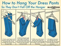 Excellent Pics How to Hang Dress Pants on a Hanger Ideas You know standard gar. Excellent Pics How to Hang Dress Pants on a Hanger Ideas You know standard gar…, Sweater Hangers, Pant Hangers, Clothes Hangers, Clothes Storage, Doing Laundry, Laundry Hacks, Organizar Closets, Organiser Son Dressing, Hanging Pants