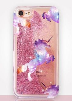 Cell Phone Cases - Unicorn Glitter Clear Phone Case - Welcome to the Cell Phone Cases Store, where you'll find great prices on a wide range of different cases for your cell phone (IPhone - Samsung) Unicorn And Glitter, Cute Unicorn, Rainbow Unicorn, Cute Phone Cases, Iphone Phone Cases, Samsung Cases, Iphone 7, Cell Phone Covers, Unicorn Birthday Parties