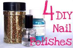 4 DIY Nail Polishes