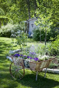 Charming old flower cart
