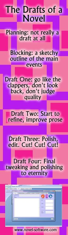 The Drafts of a novel http://www.novel-software.com/novelwritingdrafts.aspx #writing
