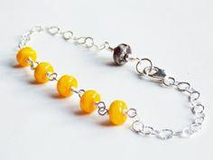 Sunflower Minimalist Bracelet   -SOLD-