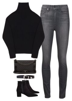 """""""Untitled #496"""" by flowercalder ❤ liked on Polyvore featuring Paige Denim, Totême, Chanel, Stuart Weitzman, B-Low the Belt, women's clothing, women, female, woman and misses"""