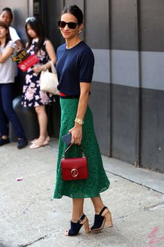 Maria Dueñas Jacobs, Elle's accessories director.
