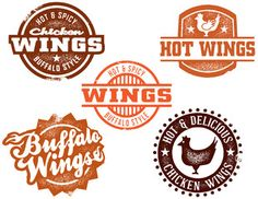Illustration of Hot Chicken Wing Graphics vector art, clipart and stock vectors. Spicy Wings, Chicken Wings Spicy, Chicken N Beer, Buffalo Chicken, Chicken Icon, Retro Barbecue, Chiken Wings, Wings Restaurant, Chicken Brands