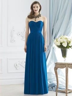 Dessy Collection Style 2942 in Cerulean shown in a size 10.