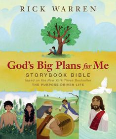 "Title: God's Big Plans for Me Author: Rick Warren Illustrator: Jody Langley Publisher: Zonderkidz ISBN: 978-0-310-75039-0 ""What can you ask God for to help you tell other people about him?"" asks the question at the end of the story about King Solomon in Rick Warren's book for children, God's Big Plans for Me Storybook Bible. ~…"