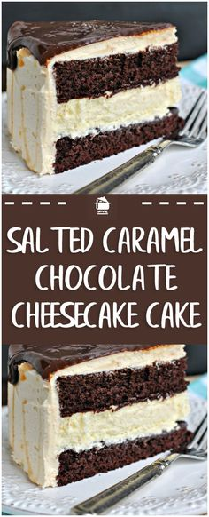 Salted Caramel Chocolate Cheesecake Cake – Page 2 – Home Family Recipes Cake Recipes The Cheesecake Factory, Just Desserts, Delicious Desserts, Dessert Recipes, Dessert Blog, Chocolate Caramels, Chocolate Recipes, Salted Caramels, Cake Chocolate
