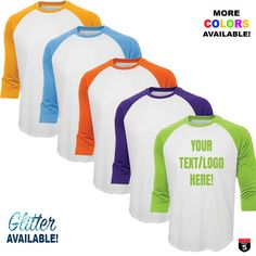 Personalized Baseball Tee NEW COLORS! custom t-shirt unisex size new fashion customized shirt vinyl-glitter-image print available! by on Etsy Glitter Images, Lettering, Custom Shirts, New Fashion, Unisex, Tees, T Shirt, Baseball, Clothes