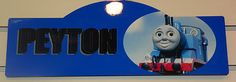 Beautiful Thomas The Train Bedroom Sign Personalized Any Writing Wall Decor | eBay