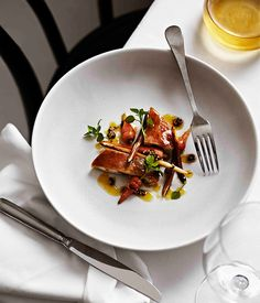 Chicken with carrots cooked in Sauternes - Gourmet Traveller