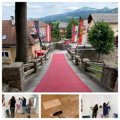 Der Kunstraum auf der Burg Golling – Marlene Schaumberger Sidewalk, Exhibitions, Indoor Courtyard, Tourism, Kunst, Side Walkway, Walkway, Walkways, Pavement