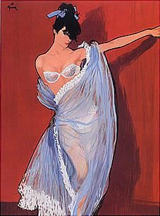 Illustration by René Gruau, 1957, Lejaby (French Lingerie), Bra, Girdle.