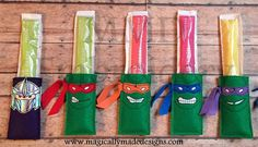 Turtle Ninja's Freezer Pop Holder and Cozy by MMDEmbroidery