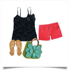cute summer outfit, created by jennifer-williams-don on Polyvore
