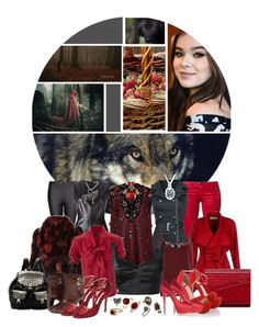 """Cerise Hood"" by wicked-elsa ❤ liked on Polyvore featuring Lucky Brand, Bling Jewelry, Pierre Balmain, MANGO, MSGM, Aquilano.Rimondi, Erickson Beamon, BGN, Philipp Plein and NW3"