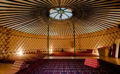 or we could meditate and do yoga in a yurt!    Google Image Result for http://www.studiojo.com/img/yurt_011.jpg