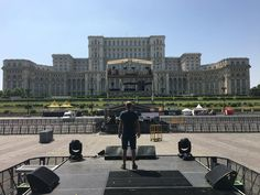 Bogdan Mezofi standing on the stage during soundcheck for Queen opening, 2016 Alternative Rock Bands, Romania, Stage, Louvre, Queen, Building, Travel, Viajes, Buildings
