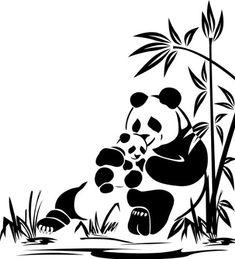 Global Graffix Panda Wall Decal Sticker Home décor x Animal Stencil, Bird Stencil, Stencil Art, Stenciling, Wall Drawing, Painting & Drawing, Art Drawings, Stencil Patterns, Stencil Designs