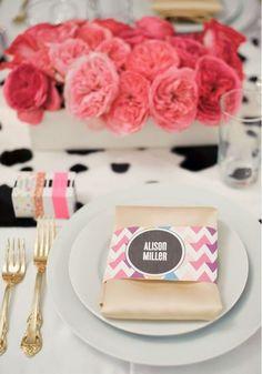 Chevron Wedding Details (Jesi Haack Design, Avery House Photography)