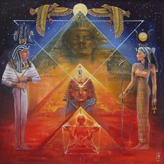 All-Seeing Eye of Horus - © 1999 Alla Yashina Isis Goddess, Egyptian Goddess, Esoteric Art, Egyptian Mythology, Egyptian Symbols, Egyptian Tattoo, Egypt Art, Occult Art, Religion