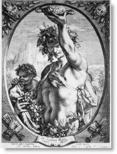 Baco, o deus romano do vinho e da embriaguez, equiparado com o Dionísio grego. Seu festival foi celebrado em 16 de março e 17. O bacanais, orgias em honra de Dionísio, foram introduzidas em Roma por volta de 200 aC. Estas celebrações infames, notórios por seu caráter sexual e criminal, ficou tão fora de mão que eles foram proibidos pelo Senado Romano em 186 aC. Bacchus também é identificado com o velho italiano deus Liber.