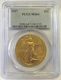 1927 Saint Gaudens $20.00 gold coin