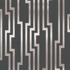 Velocity Wallpaper in Charcoal and Silver design by Candice Olson