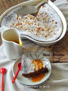 Gâteau au lait ribot, chocolat et noisettes
