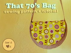 Sew a Retro-Style Purse - 70s Inspired! by Sew It Love It