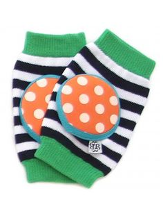 Happy Knees Tangerine Twist - baby crawler kneepads $14 www.bellatunno.com