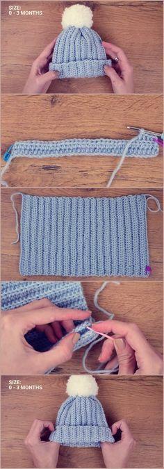 Crochet Baby Beanie – Crocheted World