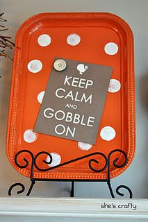 So cute! Magnet Board with Gobble printable