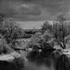 ИК вид на Можайск от Игумново осенью