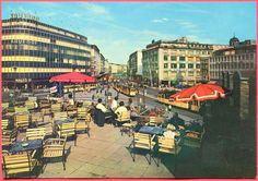 FRANKFURT . BLICK VON DER HAUPTWACHE AUF DIE ZEIL . 1965