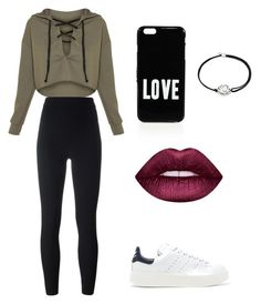 """Green time"" by marutza28 ❤ liked on Polyvore featuring adidas Originals, Givenchy, Lime Crime and Alex and Ani"