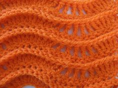Lacy Ripple Stitch - Left Handed Crochet Tutorial, My Crafts and DIY Projects Crochet tutorial that teaches you how to crochet a ripple stitch using this lacy pattern. For written pattern . Right handed version . Picot Crochet, Stitch Crochet, Crochet Ripple, Crochet Gratis, Crochet Motifs, Crochet Stitches Patterns, Crochet Chart, Free Crochet, Stitch Patterns