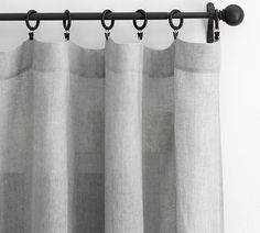 Linen curtains light grey or white pottery barn