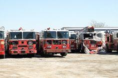 FDNY Fire Trucks Graveyard, Queens, New York City