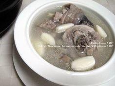 「蒜頭雞湯」砂鍋版.電鍋版