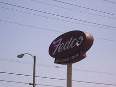 Old Fedco Sign in Colton, CA