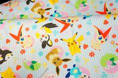 pokemon fabric pikachu by beautifulwork on Etsy, $14.98