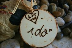 Rustic Wedding Personalized Ornament with carved by PrinceWhitaker, $8.99