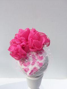 Pink Leopard Flower Chapeau de Woof by MaisonDeWoof on Etsy