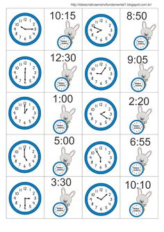Teaching Time, Help Teaching, Teaching Activities, Teaching Math, Easy Games For Kids, Math For Kids, Math Clock, Learn To Tell Time, 2nd Grade Math Worksheets