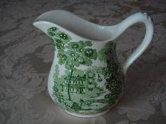 Clarice Cliff Staffordshire England Vintage Tonquin Green Cream Pitcher Creamer