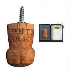 Champagne Cork coat hook by Amplifier, £12.50