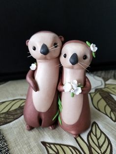 Custom Sea Otter Cake Topper
