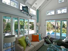You won't see dreamy photos like this in the HGTV Smart Home 2013 virtual tour! World-class photographer Eric Perry captures magnificent detail, up close and personal, in a series of almost 100 spectacular photos. Coastal Living Rooms, Living Spaces, Home Renovation Loan, Hgtv Dream Homes, Bedroom Pictures, Outdoor Living Areas, Coastal Style, Coastal Decor, Smart Home